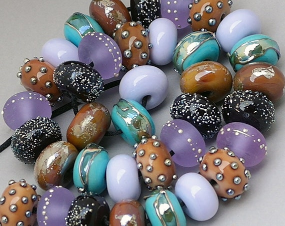Lampwork Beads Patterned Beads Glass Beads Handmade Beads Organic Beads For Jewelry Supplies Beaded Bracelet Artisan Beads Debbie Sanders