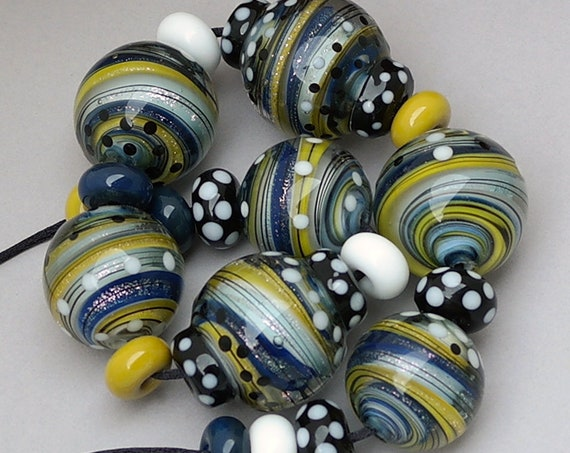 Lampwork Beads Handmade Beads Glass Beads Marble Beads For Jewelry Supplies Statement Necklace Focal Bead Pendant Beading Debbie Sanders