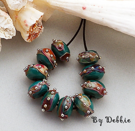 Lampwork Beads Glass Beads For Bracelets Beads For Jewelry Supplies Beaded Earrings Beads For Necklace Beads Craft Supply Debbie Sanders