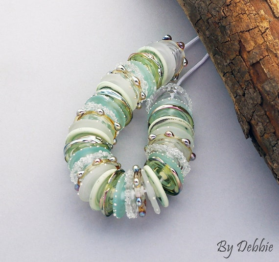 Glass Beads Lampwork Beads Disc Beads For Necklace Statement Bracelet Handmade Beads For Jewelry Supplies Beading SRA Beads Debbie Sanders