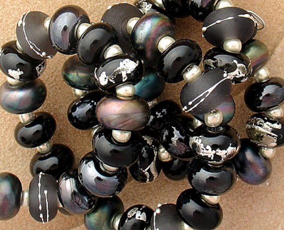 Lampwork Beads Glass Beads Statement Necklace Black Beads Organic Beads For Jewelry Sets Bead Necklace Bead Bracelet Pattern Debbie Sanders