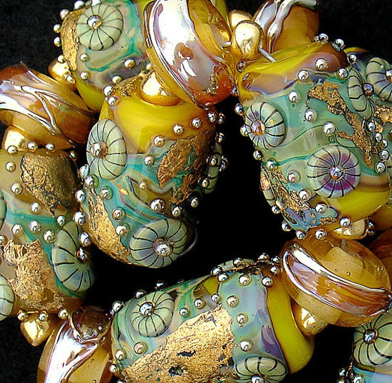 Lampwork Beads Handmade Glass Beads For Jewelry Supplies Beach Jewelry Sets Organic Beads Colorful Jewelry Beads Beading Debbie Sanders
