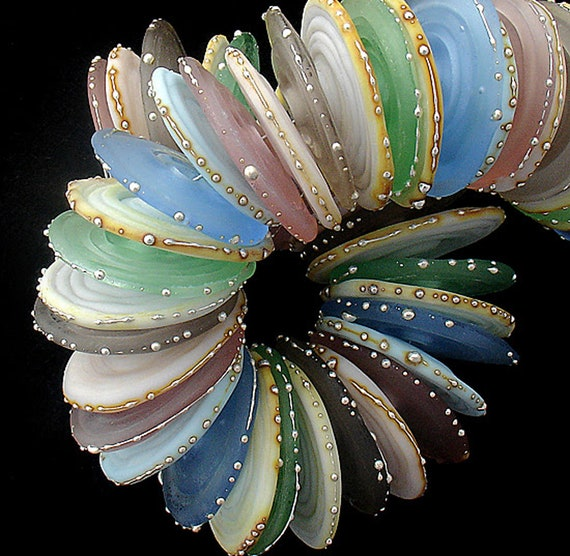 Lampwork Beads Glass Beads Disc Beads For Necklace Statement Bracelet Handmade Beads For Jewelry Set Supplies Boho Beading Debbie Sanders
