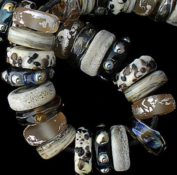 Lampwork Beads Glass Discs Handmade Beads Glass Beads Beading African Beads Jewelry Supplies Beading Bracelet Necklace Debbie Sanders