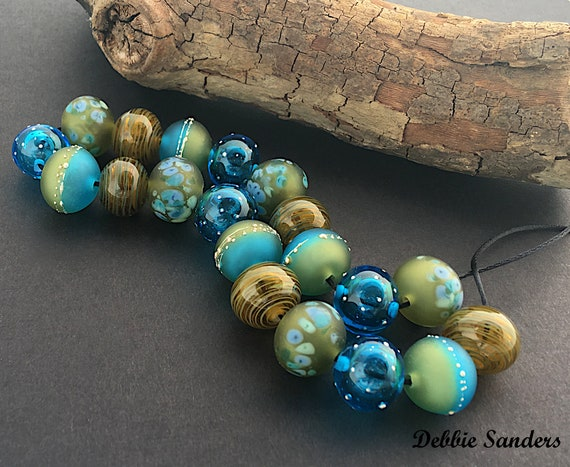 Handmade Lampwork Hollow Beads For Jewelry Supplies Statement Necklace Bead Supplies Organic Beads Boho Beads Unusual Beads Debbie Sanders