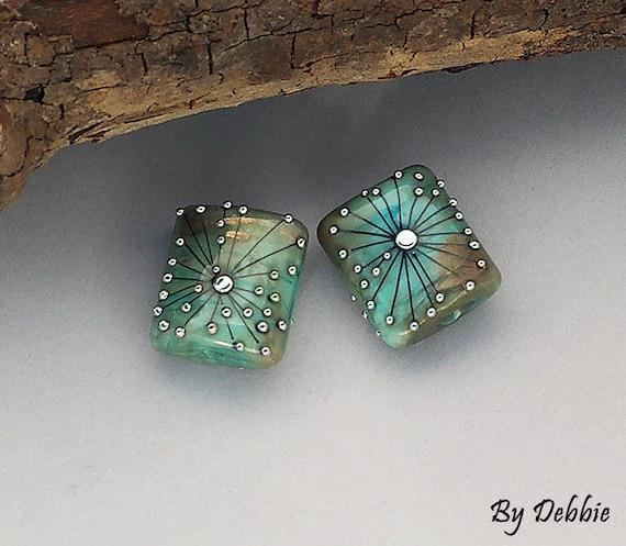 Lampwork Beads Handmade Lampwork For Earrings Beads For Jewelry Square Beads Beading Jewelry Supplies Bead Supply Debbie Sanders