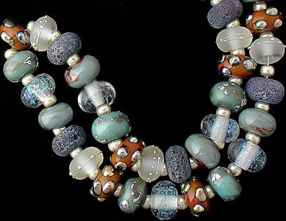 Lampwork Beads Handmade Glass Beads For Jewelry Supplies Bracelet Beading Necklace BoHo Jewelry Craft Supplies Jewelry Making Debbie Sanders