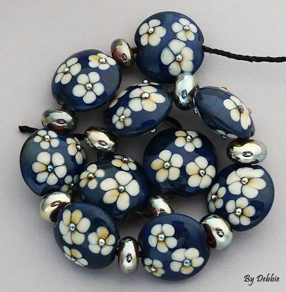 Lampwork Beads Glass Beads Statement Necklace Beads For Jewelry Supplies For Jewelry Beads Bracelet Bead Necklace Flower Bead Debbie Sanders