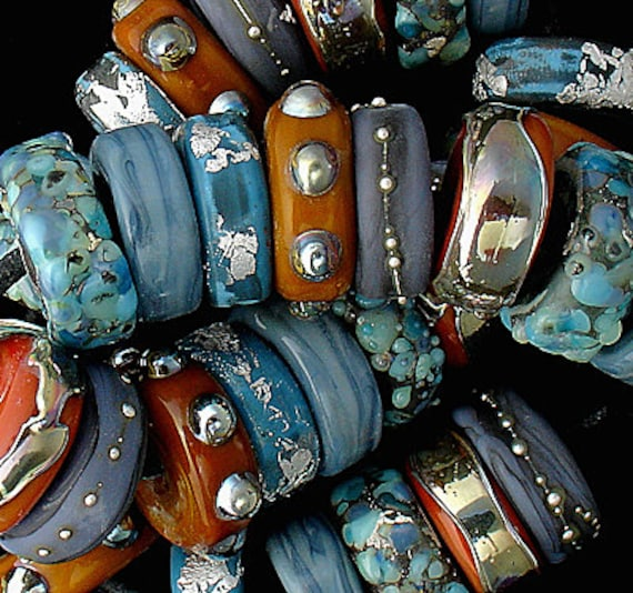 Lampwork Beads Patterned Beads Glass Beads For Jewelry Supplies For Bracelets Beach Jewelry Necklace Beads For Crafts Debbie Sanders Bead