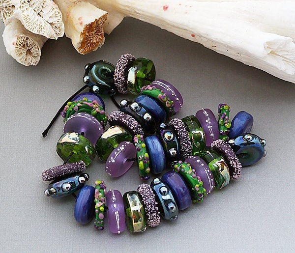 Lampwork Beads For Jewelry Supplies Handmade Glass Beads For Necklace Beaded Bracelet Lampwork Beads Jewelry Sets Pattern Beads Art Beads