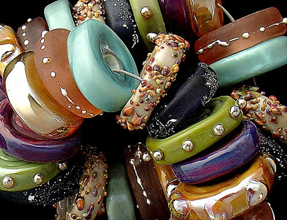 Disc Lampwork Beads Statement Necklace Colorful Glass Beads For Bracelet Jewelry Supplies Beading Jewelry Making Debbie Sanders SRA Artist