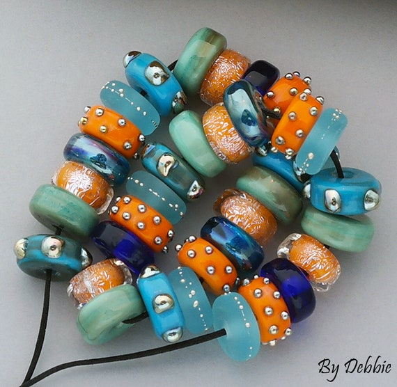 Glass Beads Lampwork Beads Jewelry Sets Statement Necklace Beach Beads For Bracelets Jewelry Supplies Beads For Jewelry Debbie Sanders