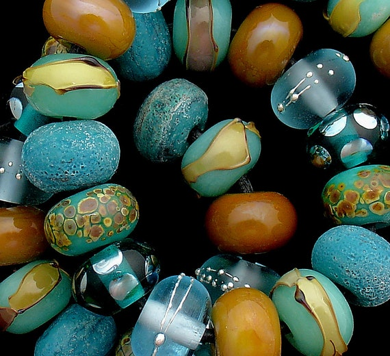 Lampwork Beads Patterned Glass Beads For Statement Necklace Jewelry Sets Beaded Bracelet Supplies Round Small Beads Debbie Sanders