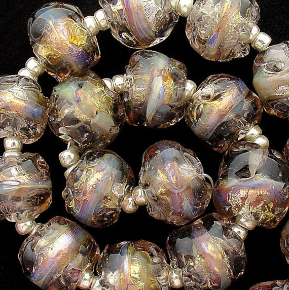 Grey Lampwork Nugget Beads For Jewelry Supplies Glass Beads For Statement Necklace Jewelry Sets Boho Beaded Bracelet Debbie Sanders