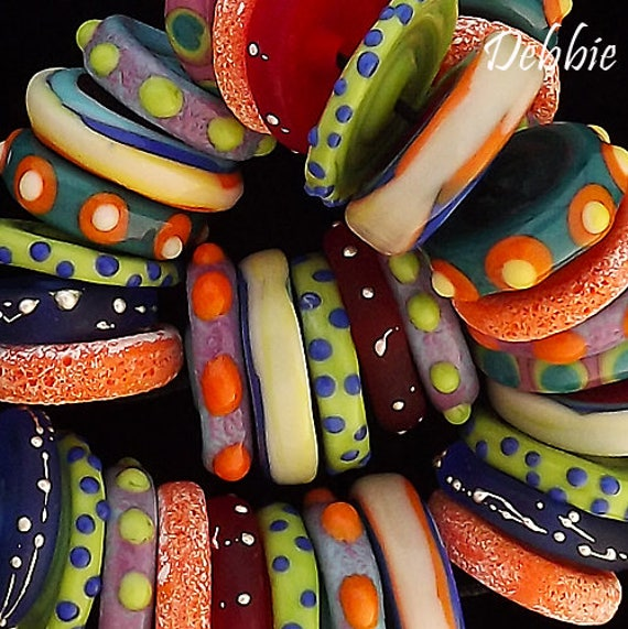 Lampwork Beads Rustic Beads Necklace Handmade Lampwork Organic Beads Trade Beads For Jewelry Supplies Colorful Beads Beading Debbie Sanders