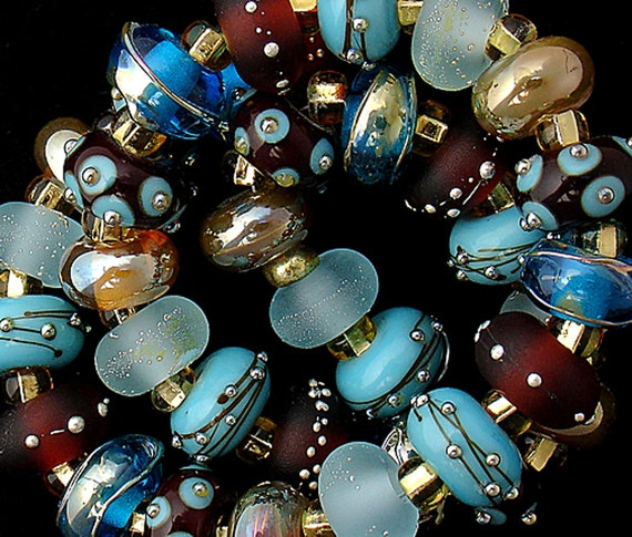 Lampwork Beads Glass Beads Statement Necklace Handmade Beads For Jewelry Supplies Beading Bracelet Boho Jewelry SRA Beads Debbie Sanders