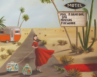 Desert Queen Motel. Art Print