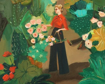 Not Even Tragedy Could Come Between Lady Sarsgaard and Her Prize Winning Garden. Art Print
