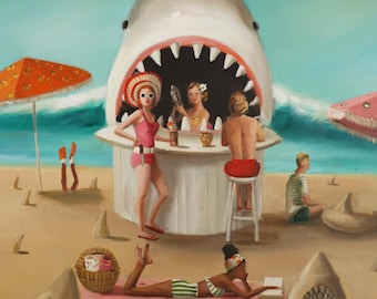 Sand Shark Bar. Art Print