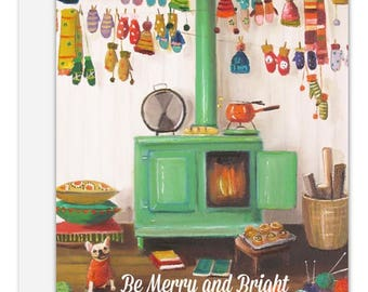 Be Merry and Bright. Greeting Card. SKU JH1140