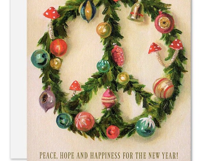 Peace Wreath Card. SKU JH1172