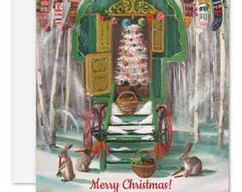 Christmas Caravan. Christmas Card. SKU JH1174