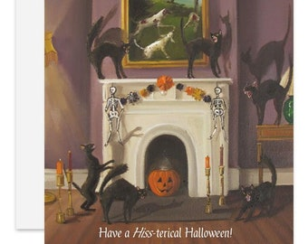 Have A Hiss-terical Halloween Card. SKU JH1171