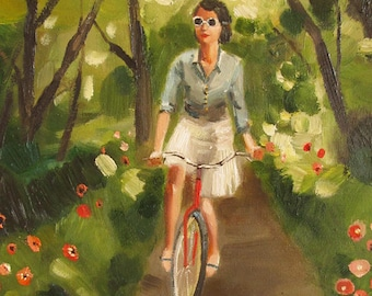 Catherine Decides To Get Some Fresh Air And Exercise. Limited Edition Print