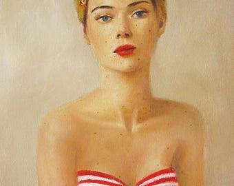 Freckle Face. Art Print