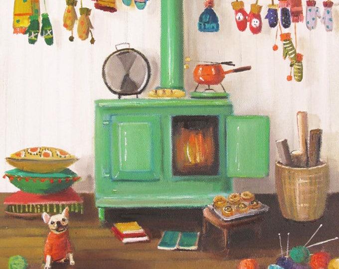 The Knitter. Art Print