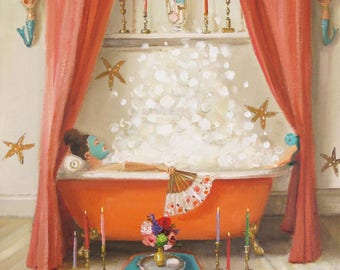 Princess Edwina Takes A Bath. Art Print