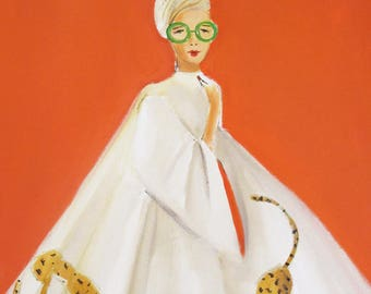 Catty Cathy. Art Print