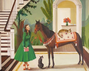 A House Horse Called Rousseau. Art Print.