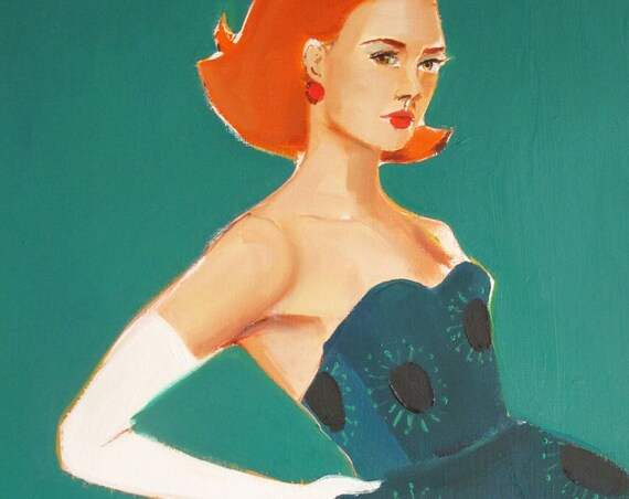White Glove. Fashion Illustration. Art Print