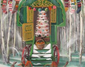 Christmas Caravan. Art Print