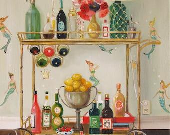 Barmaids. Art Print