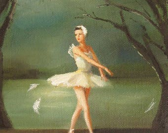 Enchanted Dancer:  Moulting Season Often Posed A Challenge For The Swan Queen.  Art Print