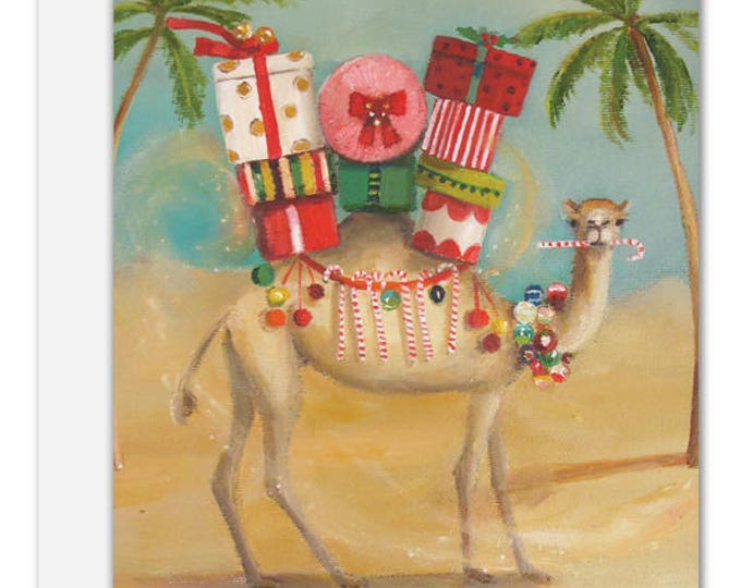 The Christmas Camel. BOX SET of 8 Cards. One Design.