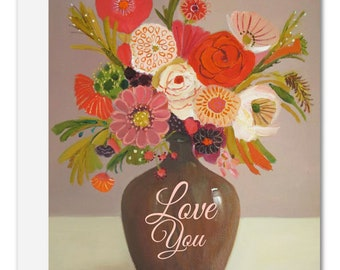 Pink Fever Love You Card. SKU JH1178