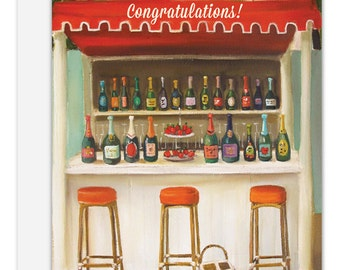 Champagne Shack. Congratulations Card. SKU JH1128