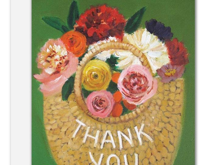 Thank You Basket. Birthday Card. SKU JH1116