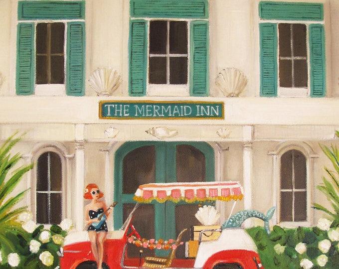 Featured listing image: The Mermaid Inn. Art Print