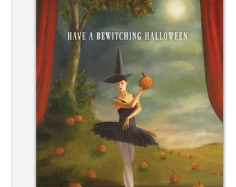 Dance of the Pumpkin Patch. Halloween Card. SKU JH1111