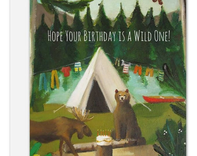 Wild Birthday Card. SKU JH1142