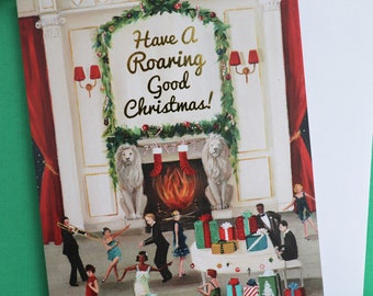 Have A Roaring Good Christmas. Boxed Set of 8 Cards.