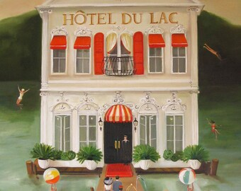 Hotel du Lac. Art Print.