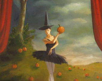 Dance of the Pumpkin Patch. Art Print