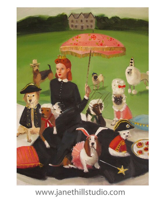 Miss Moon Was A Dog Governess.  Lesson Eight:  Exercise Is Good For The Body....Art Print