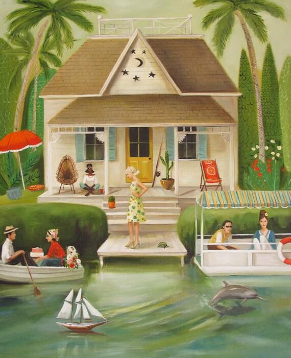 June Everheart's Splendid Summer Home.  Art Print