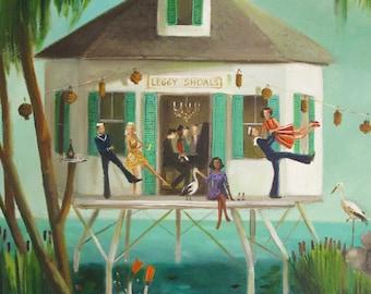 A Dive Bar Called Leggy Shoals. Art Print
